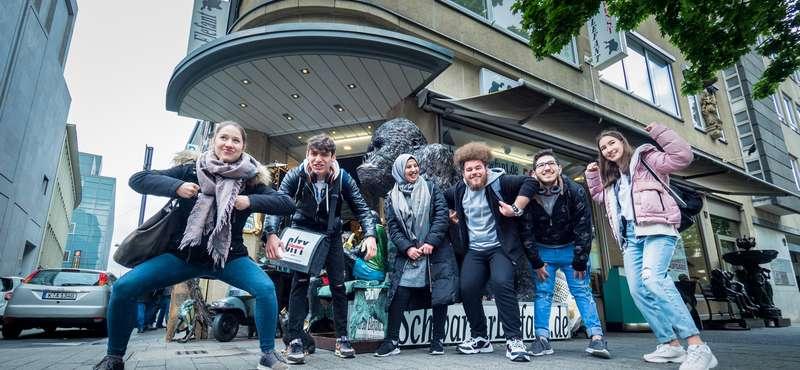 """CityGames Frankfurt: Schülergruppe bei der """"Schüler-Tour"""""""