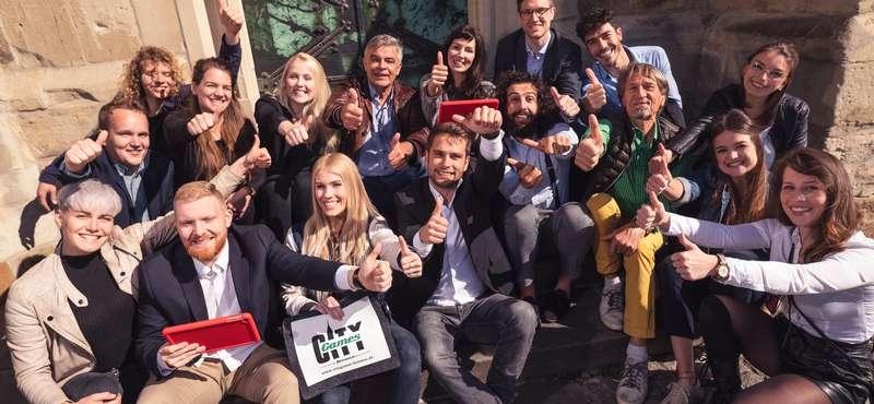 """CityGames Frankfurt: Teamwork bei der """"Firmen Team-Tour"""""""